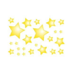 Bügelbilder Set Sterne