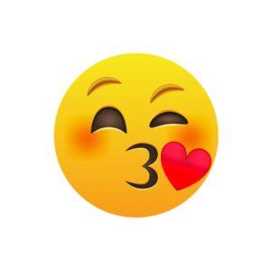Bügelbild Emoji Kiss