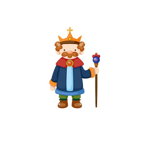 Bügelbild König Brummel