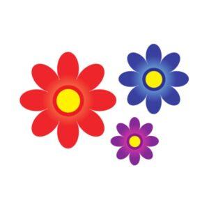 """Bügelbild Blumen Set """"1"""""""