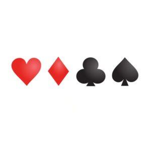 Bügelbild Poker