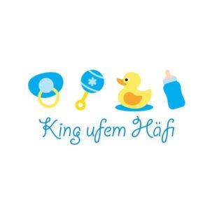 Bügelbild King ufem Häfi