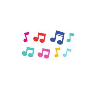 Bügelbild Musik