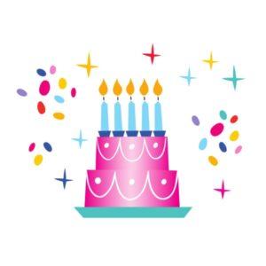 Bügelbild Geburtstagstorte
