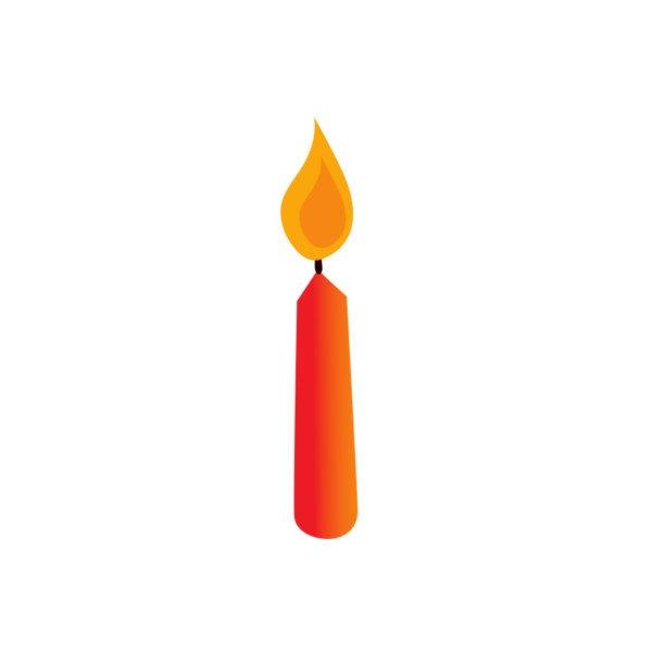 Bügelbild Kerze