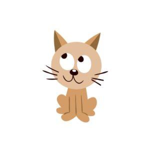 Bügelbild Katze