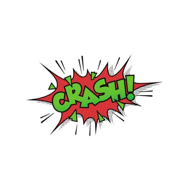 Bügelbild CRASH