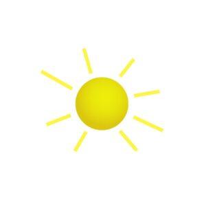Bügelbild Sonne