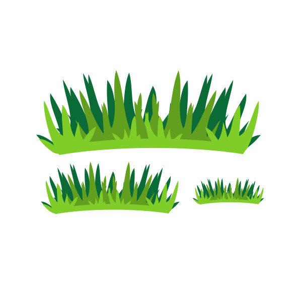 Bügelbild Gräser Set