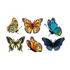 """Bügelbild Schmetterling Set """"02"""""""