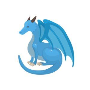 Bügelbild Drachen