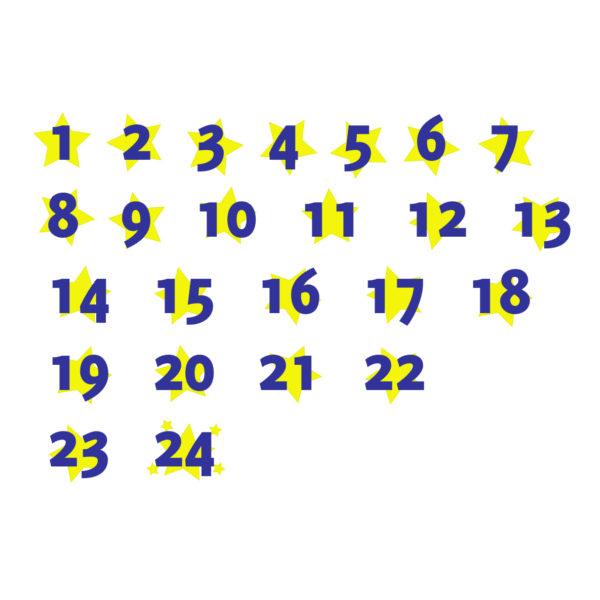 """Bügelbild Adventszahlen Set """"4"""""""