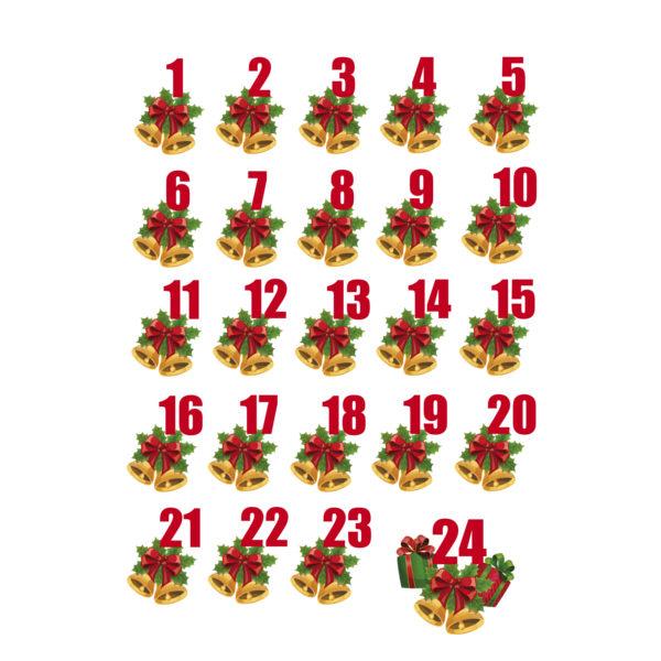 """Bügelbild Adventszahlen Set """"3"""""""