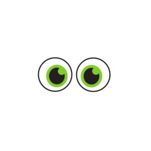 Bügelbild Augen 002