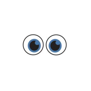 Bügelbild Augen 003