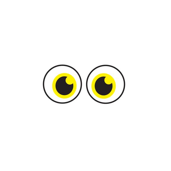 Bügelbild Augen 004