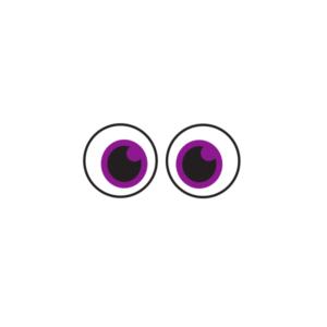 Bügelbild Augen 005