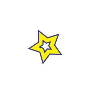 Bügelbild Stern