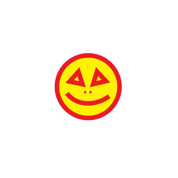 Bügelbild Smile eckig