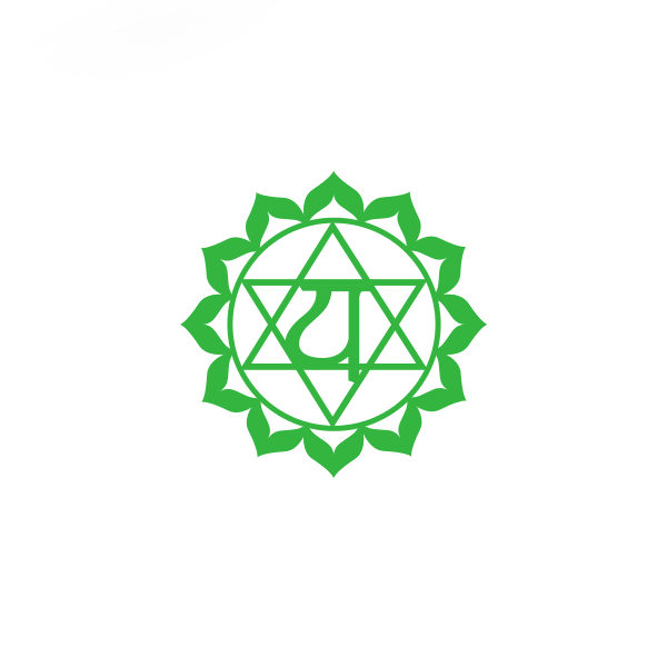 Bügelbild Anahata Chakra