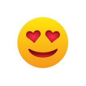 Bügelbild Emoji - LOVE