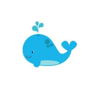 Bügelbild Wal