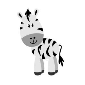 Bügelbild Zebra