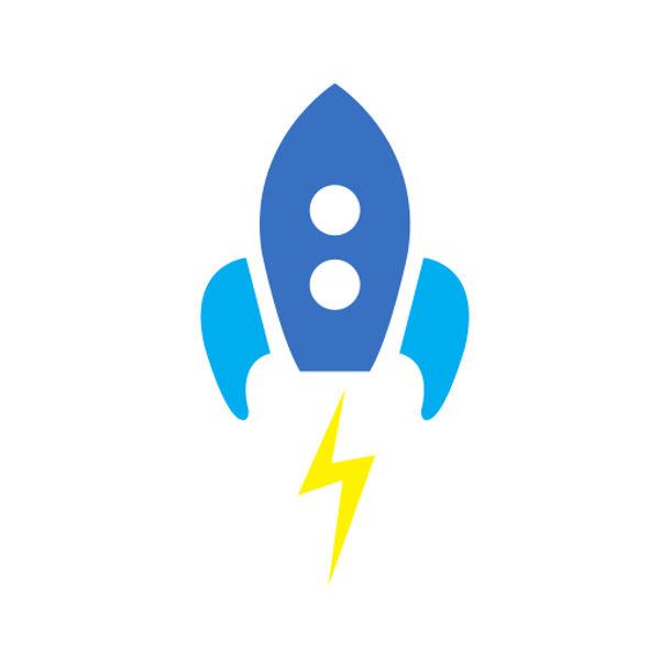 Bügelbild Rakete