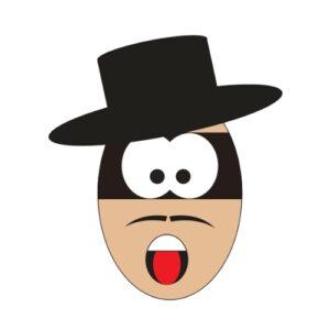 Bügelbild Zorro-Ei