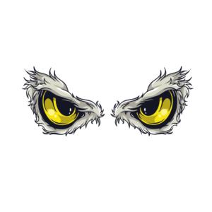 Bügelbild Augen 007