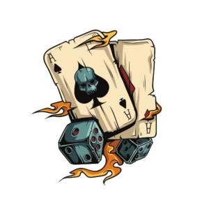 Bügelbild Poker Gambling