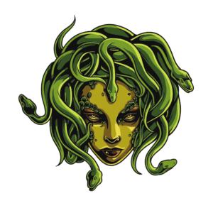 Bügelbild Medusa