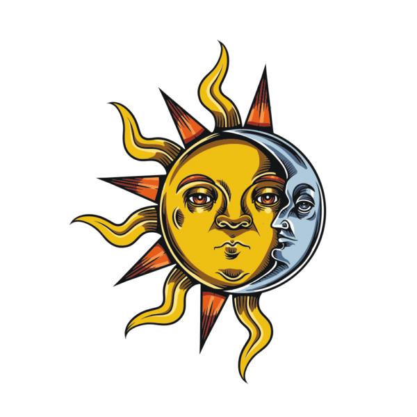 Bügelbild Sun Moon
