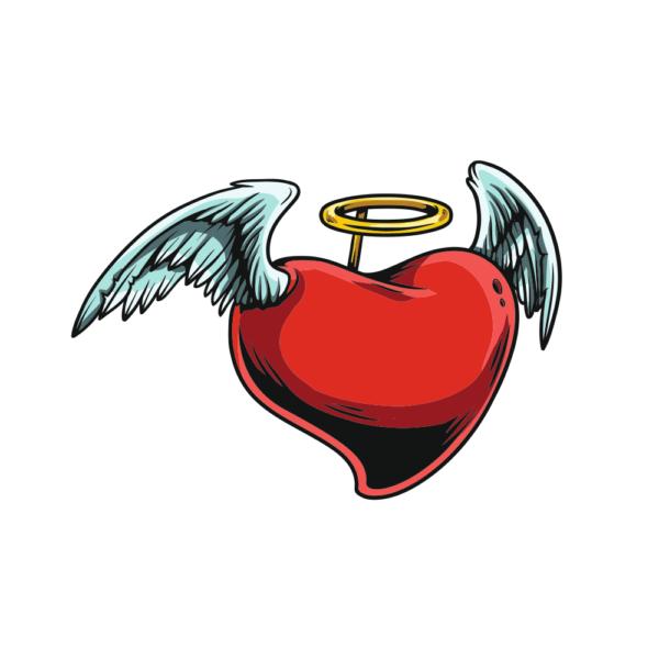 Bügelbild Angel Heart