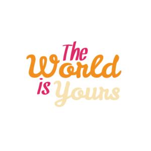 Bügelbild The World is yours