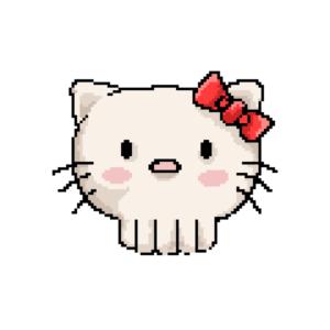 Bügelbild Bye Kitty