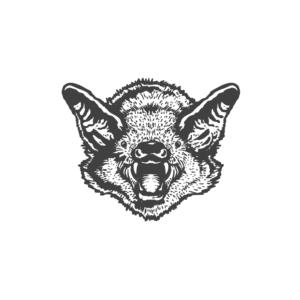 Bügelbild Black Bat