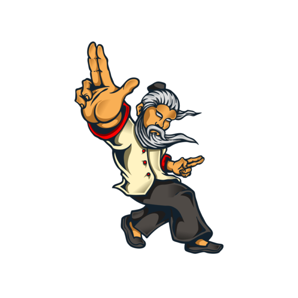 Bügelbild Kung-Fu Meister
