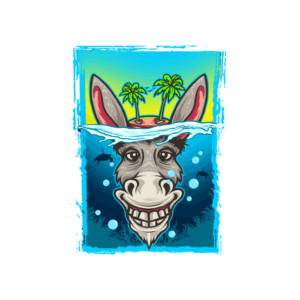 Bügelbild Ey-Donkey