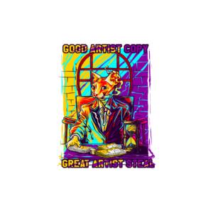 Bügelbild Good vs. Great Artist