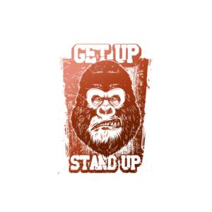 Bügelbild Get up Stand up