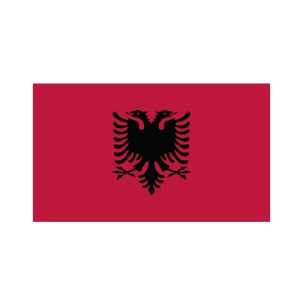 Bügelbild Albanien Flagge