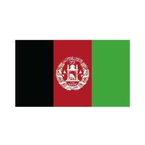 Bügelbild Afghanistan Flagge