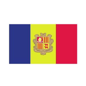 Bügelbild Andorra Flagge