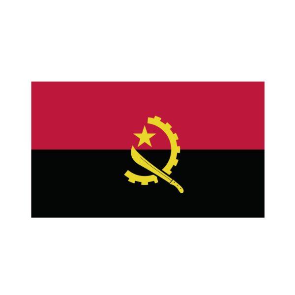Bügelbild Angola Flagge