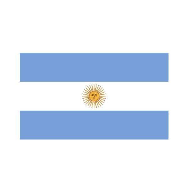 Bügelbild Argentinien Flagge