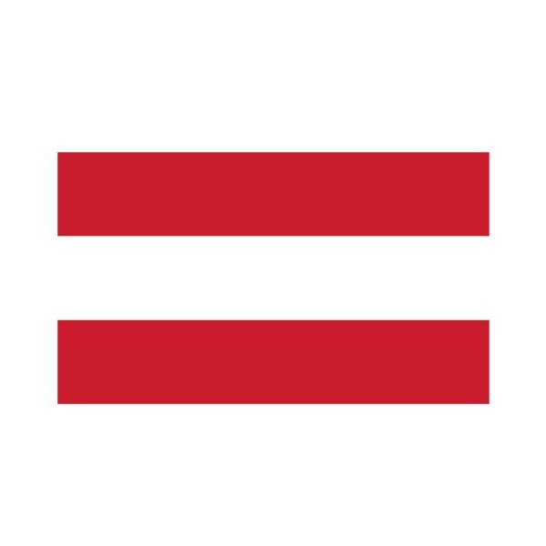 Bügelbild Österreich Flagge