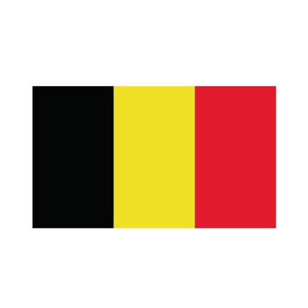 Bügelbild Belgien Flagge