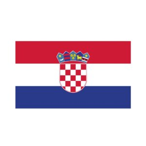 Bügelbild Kroatien Flagge