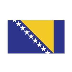 Bügelbild Bosnien-Herzegowina Flagge